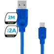 Kabel Microusb Whippy 2M Granatowy