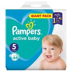 Pampers Pampers Active Baby Rozmiar 5, 64 pieluszek, 11-16 kg