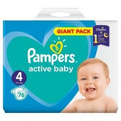 Pampers Pampers Active Baby Rozmiar 4, 76 pieluszek, 9-14 kg