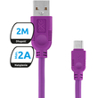 Kabel Microusb Whippy 2M Fioletowy
