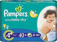 Pampers Active Baby-Dry Rozmiar 4 Plus (Maxi Plus) 9-16 kg 40 Pieluch